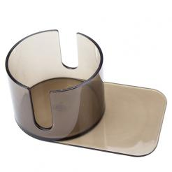 Large Slide Under Plastic Poker Table Cup Holder with cut out.  this cup holder will fit coffee mugs.