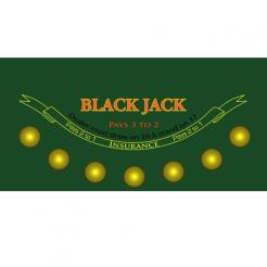 Casino Grade Backjack Felt Layout