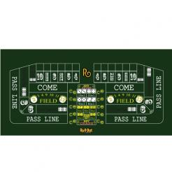 70 inch Roll Out Craps Table Top with a Sure Stick rubber backing