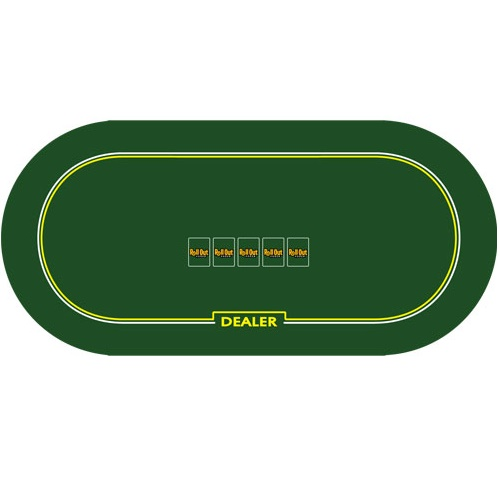 Roll Out Poker Table Top W Dealer