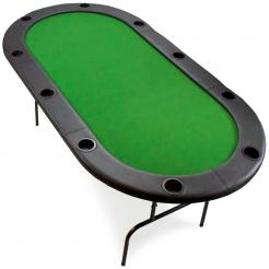 10 Person Folding Poker Table - 82 x 42
