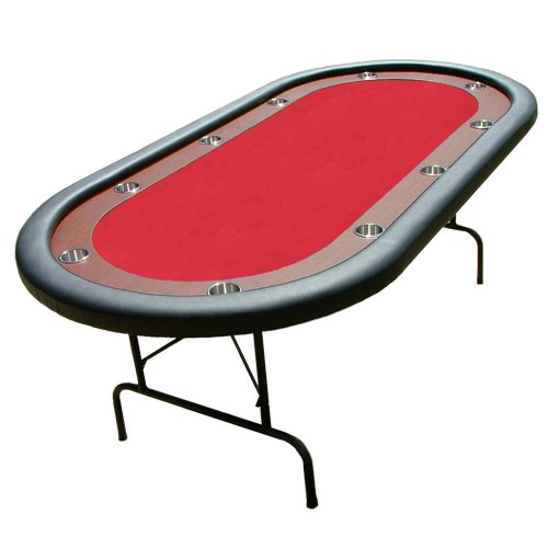 10 person folding poker table red w racetrack for 10 person table