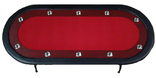 10 person folding poker table red w racetrack for 10 person poker table top