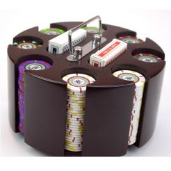 200 The Mint Poker Chip Set in a wooden Chip Carousel