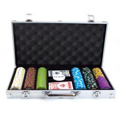 300 mint poker chip set in an aluminum case