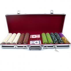 500 The Mint Poker Chip Set in Black Aluminum Case