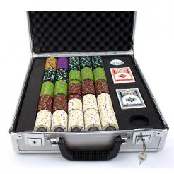 500 The Mint Poker Chip Set in a Claysmith Aluminum Casewith 5 chip trays