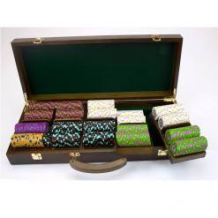 500 The Mint Poker Chip Set in a Walnut Case