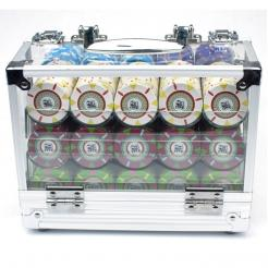 600 The Mint Poker Chip Carrier Set with 6 chip trays600 The Mint Poker Chip Carrier Set with 6 chip trays