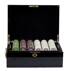 750 The Mint Poker Chip Set in a Mahogany Case