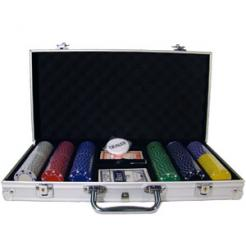 300 Suited Poker Chip Set in an aluminum case