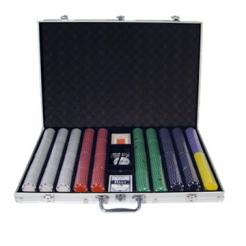 1000 Suited Poker Chip Set in an Aluminum Case