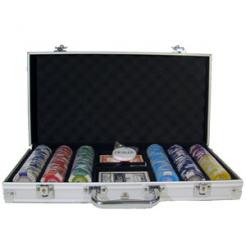 300 tournament pro poker chip set in an aluminum case