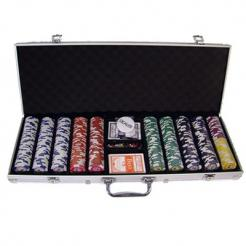 500 Tournament Pro Poker Chip Set in an aluminum case