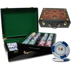500 Tournament Pro Poker Chip Set in a Humidor Style Case