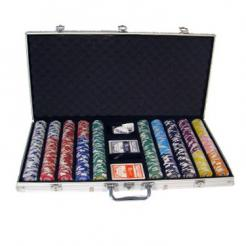 750 Tournament Pro Poker Chip Set in an aluminum case