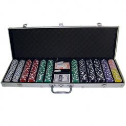 600 Diamond Suited Poker Chip Set in an aluminum case