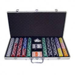 750 Diamond Suited Poker Chip Set with an Aluminum Case