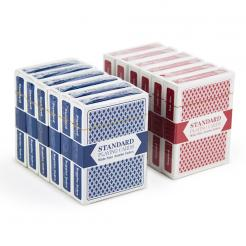 12 Decks of Standard Playing Cards (6 Red / 6 Blue)