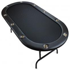 10 Person Folding Poker Table with Suited Speed Cloth