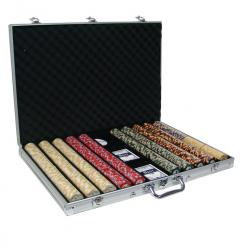 1000 nile club poker chip set with an aluminum case
