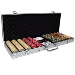 500 nile club poker chip set in an aluminum case