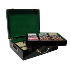 500 nile club poker chip set in a humidor style case