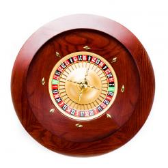 18 Hand-Crafted Mahogany Roulette Wheel