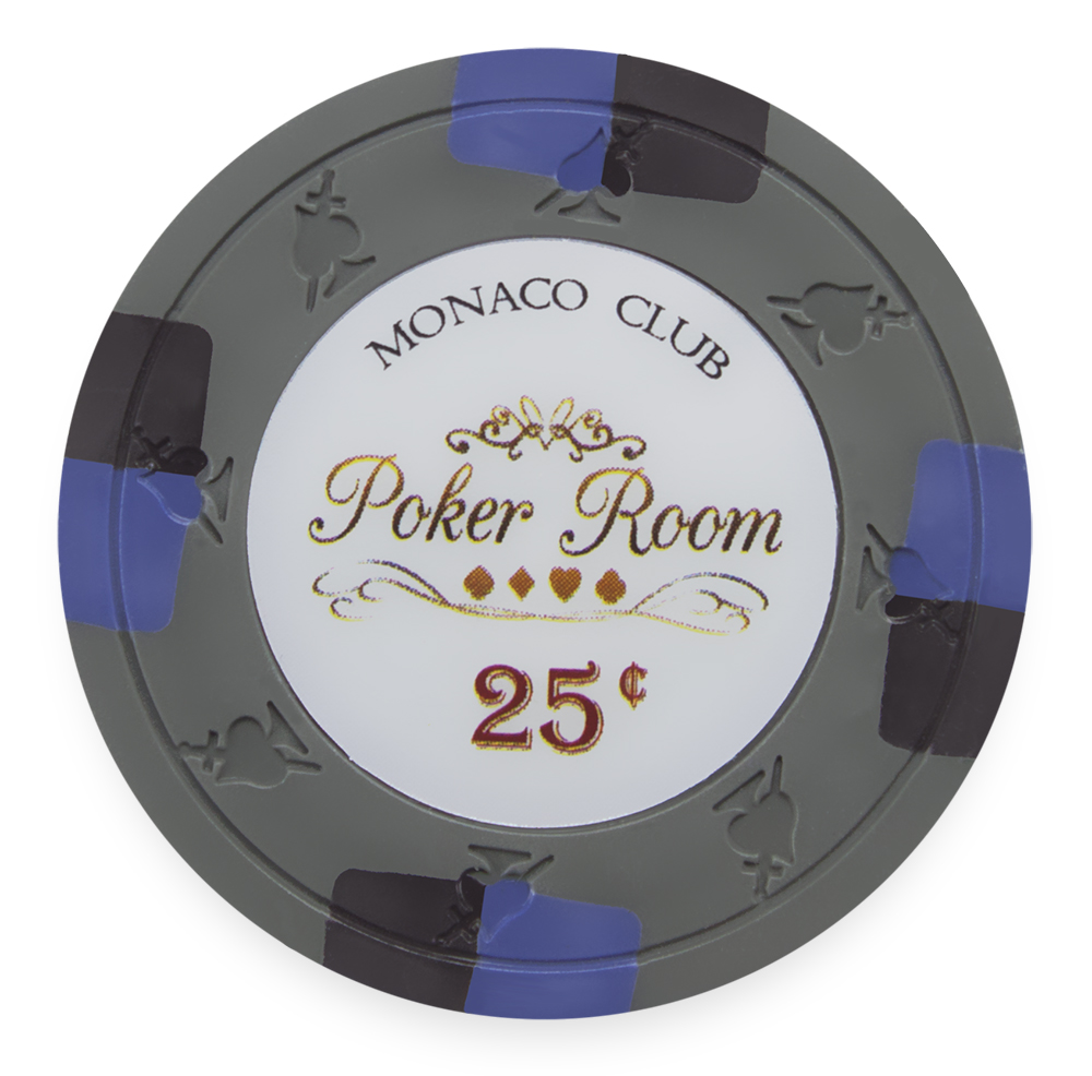 25 Gray Monaco Poker Chips