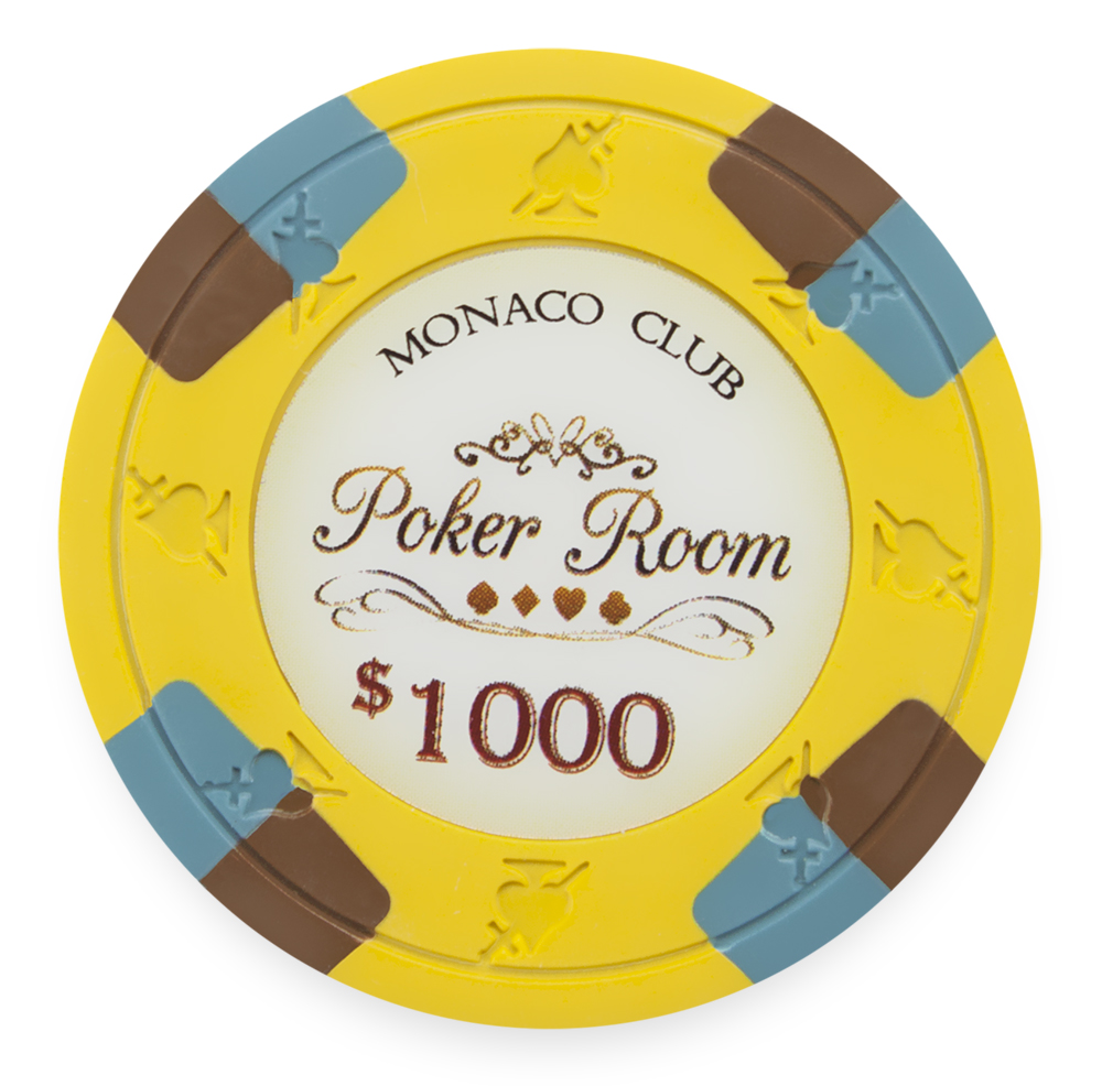 yellow poker chips