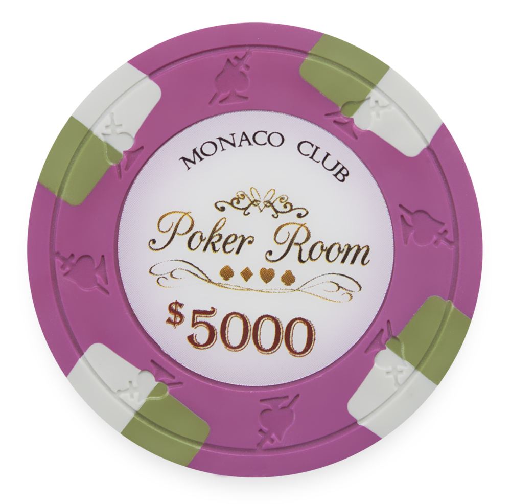 25 Pink Monaco Poker Chips 5000 Chip Value