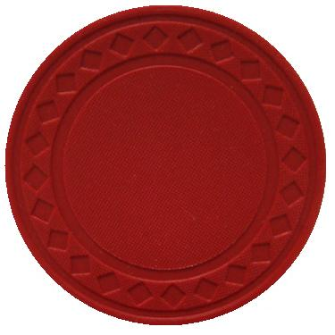 25 Red Super Diamond Poker Chips 10 1010red