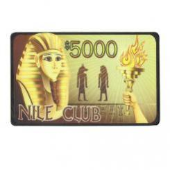 $5000 nile club poker chip plaque