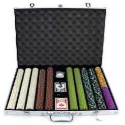 1000 the mint poker chip set in a rolling aluminum case