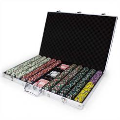 1000 showdown poker chip set in an aluminum case