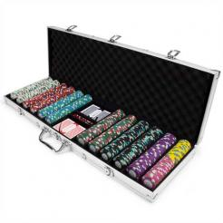600 showdown poker chip set in an aluminum case