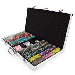750 showdown poker chip set in an aluminum case
