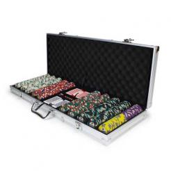 500 showdown poker chip set in an aluminum case