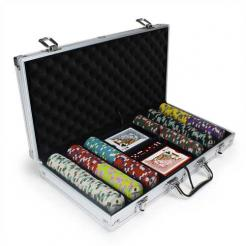 300 showdown poker chip set in an aluminum case