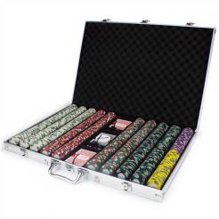 1000 Monaco Club poker chip set in an aluminum case
