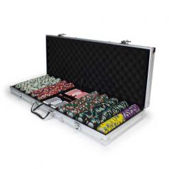 500 Monaco Club poker chip set in an aluminum case