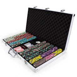 750 monaco club poker chip set in an aluminum case