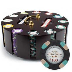 300 monaco club poker chip set in a chip carousel