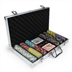300 monaco club poker chip set in an aluminum case