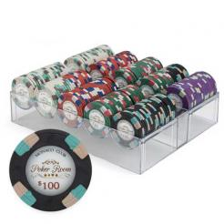 200 monaco club poker chip set in an acrylic chip tray