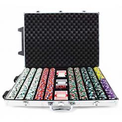 1000 poker knights poker chip set in a rolling aluminum case