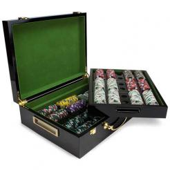 500 poker knights poker chip set in a humidor style case
