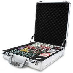 500 poker knights poker chip set in a claysmith aluminum case