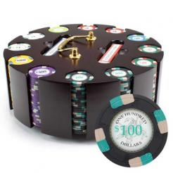 300 poker knights poker chip set in a chip carousel