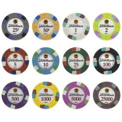 1000 Bulk Showdown Poker Chips